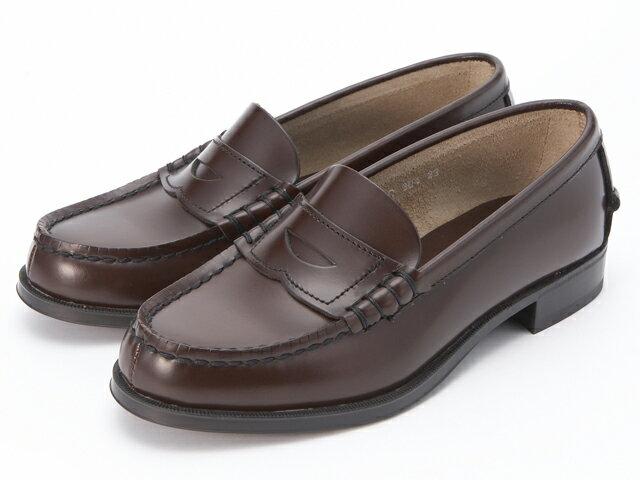 【送料無料】スクール靴として人気の本皮ローファーモデル!HARUTA/ハルタ 304 ブラウン ローファー