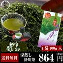 お茶/日本茶/深蒸し茶/【送料無料】静岡県掛川産 深蒸し茶 深山100g