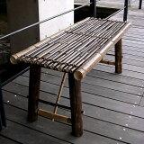縁台 竹 国産 日本製 虎竹縁台(折り畳み式)小100cm 2人掛け 玄関用腰掛けにも