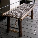 縁台 竹 国産 日本製 虎竹縁台(折り畳み式)中120cm 2〜3人掛け