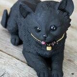 リアルでかわいい炭の動物置物♪ふせ猫ちゃん【猫の置物】