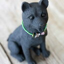Japanese midget Shiba [ornament of the dog] of the animal ornament ♪ charcoal of the charcoal which is pretty for rial