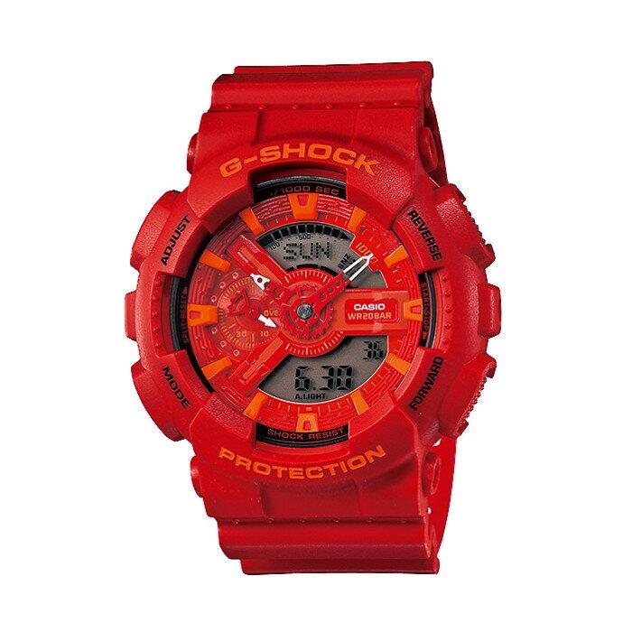 【送料無料!】カシオ GA-110AC-4AJF メンズ腕時計 Gショック ブルー&レッドシリーズ 【数量限定大特価!】【CASIO GA110AC4AJF G-SHOCK Blue and Red Series】