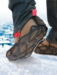 【欧州で大人気!】シューズ用滑り止めEzyShoes(イージーシューズ・ウォーク)スパイクなしでも滑らないタイヤチェーンをシューズ用に改良した商品スニーカー 革靴 長靴等Nike AirMax95 8.5(26.5cm)にLサイズを装着