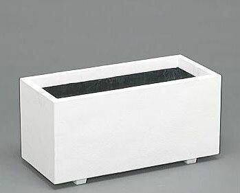 ホワイトプランター W80型 ファイバーグラス製【smtb-ms】【エクステリア 農機具 瀧商店】[ホワイト 白 プランター プラスチック]