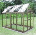 アルミ製 ガラス温室チャッピーB1.5型 1.5坪【smtb-ms】