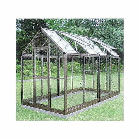 アルミ製ガラス温室チャッピーB-22坪[エクステリア農機具瀧商店]CYP-B2G1800×3576×
