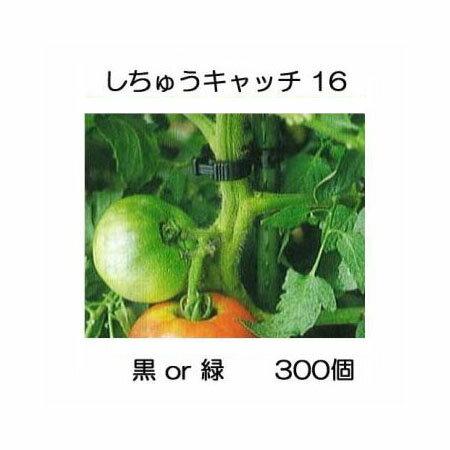 誘引資材 しちゅうキャッチ16(300個入) 黒or緑 色選択 支柱径16mm用 シーム