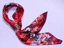【全色60種】 華麗な高級シルク調スカーフ 90角正方形大判レディース スカーフ 贈り物 ギ