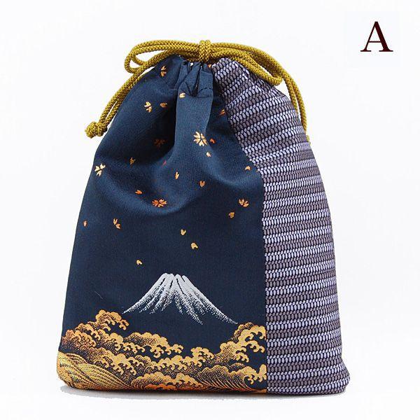 巾着 信玄袋 モダン お祭り 花火大会 父の日 敬老の日 富士山、お正月、秋祭り、夏祭り …...:takumu:10000026