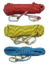送料無料 クライミング ロープ 10mm 20m ザイル ガイ ロープ 登山 キャンプ アウトドア