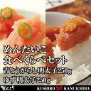 めんたいこ食べくらべセット 青とうがらし明太子 250g・ゆず明太子 250g切子