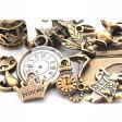 不思議の国 アリス 30個セット アクセサリーチャーム アンティークゴールド 金古美 素材 材料