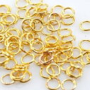 丸カン [ ゴールド ]各100個 金色 マルカン アクセサリーパーツ