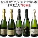 【送料無料】ワインセット カヴァ 5本 セット 辛口 シャン...