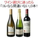 ワインセット 迷ったらこれ 御祝 誕生日 ギフト プレゼント 赤ワイン 白ワイン スパークリング ワイン 3本 セット イタリア チリ スペイン 第55弾