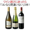 【送料無料】ワインセット迷ったらこれ家飲み御祝誕生日父の日ギフトプレゼント赤ワイン白ワインスパークリングワイン3本セットイタリアチリスペイン第56弾