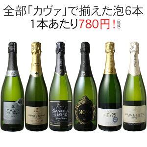 【送料無料】ワインセット カヴァ 6本 セット 辛口 シ