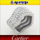 Cartier カルティエ NEPTUNE ネプチューン ダイヤ 3連 リング 750 K18 WG ホワイトゴールド 日本サイズ約14号 #54【送料無料】【代引き手数料無料】指輪 リング【中古】27510702