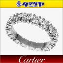 Cartier カルティエ ダイヤ(D2.69ct) デスティネ エタニティ リング Pt950 プラチナ 日本サイズ約9号 #49【送料無料】【代引き手数料無料】指輪 レディース【中古】29460608