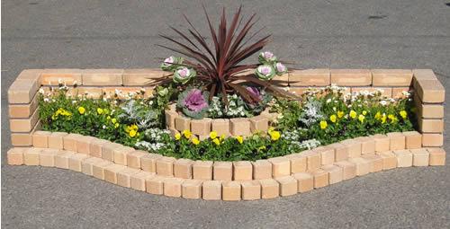 250kg/簡単にレンガのお庭ができる!キュアガーデン 花壇KRベージュタイプ【煉瓦】【れ…...:tamatebako:10000657