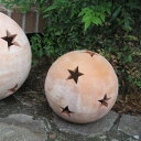 テラコッタオーナメント ボール(星柄M)直径22cm