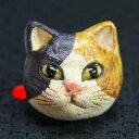 ショッピングリング 陶猫猫の指輪すみ田理恵 作ねこのやきものリング