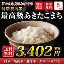 28年産 送料無料 秋田県大潟村産特別栽培米最高級あきたこまち5kg 精米無料