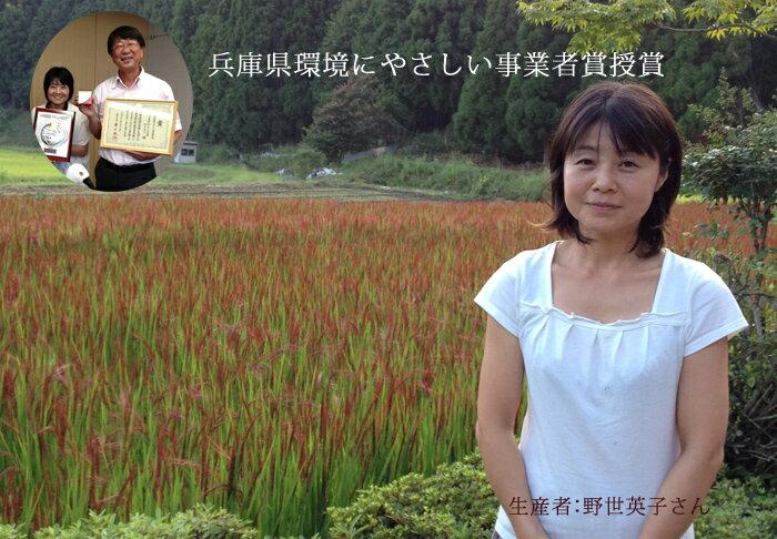 【無農薬コウノトリ米】こうのとり育む大地米赤米...の紹介画像3