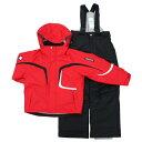 【スキーウェア ジュニア キッズ 子供用 ウェア!】DESCENTE(デサントジュニアスキーウェア)<2011>DJR-012JF RED(レッド×ブラック)【サイズ調節可能】[*]