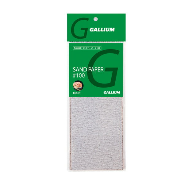 18-19 GALLIUM〔ガリウム〕 サンドペーパー#100 TU0032 〔4枚入〕
