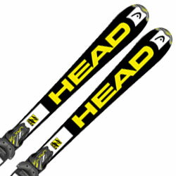 HEAD〔ヘッド ジュニアスキー板〕<2016>SUPERSHAPE TEAM LR〔BK/WH/YW〕〔スーパーシェイプ チーム〕 + LRX 4.5 AC〔BK/YW〕【金具付き・取付料無料】〔z〕