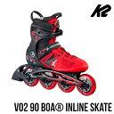 K2〔ケーツー〕インラインスケート VO2 90 BOA MEN〔BK/RD〕【送料無料】〔z〕