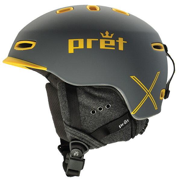 Pret〔プレット スキーヘルメット〕<2017>CYNIC X〔シニック エックス〕Rubber Rock Grey〔HG〕