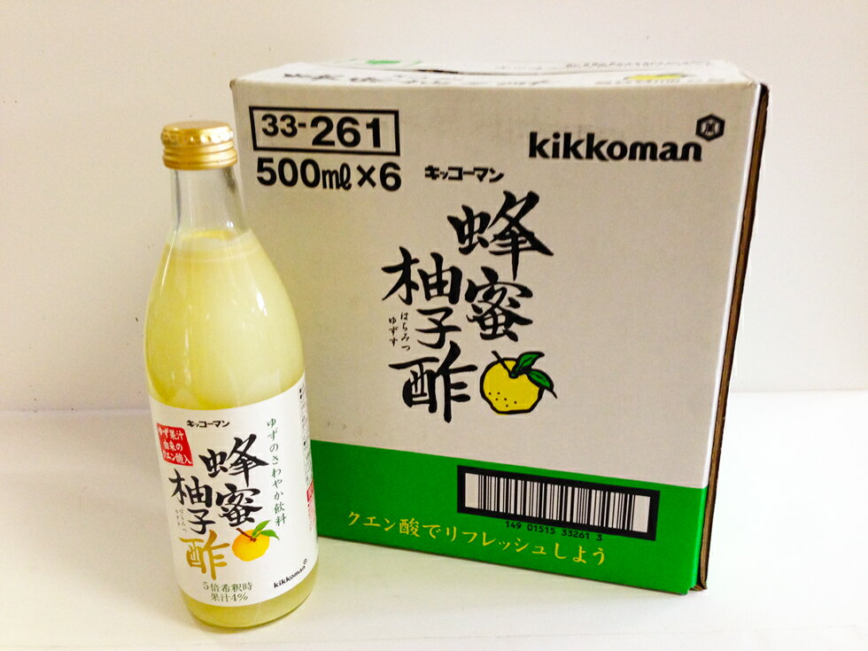 ノンアルコール 蜂蜜柚子酢 はつみつ ゆずす 5倍希釈用 500mlx6本セット【段ボール箱入り】