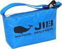 JIB ハンドルポーチS HPOS26ロケットブルー×イエローステッチ19×12.5×6cm