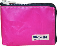 JIB マイクロクラッチラージ Sサイズ MCS18 ピンク×ダークネイビーファスナー/ホワイトタグ*15×11×1.7cm*即日発送可/メール便可の画像