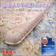 【京都西川】合繊入り羊毛敷き布団 (シングルロングサイズ 100x210cm)