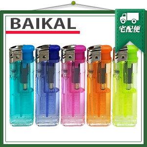 『使い捨てライター』BAIKAL(バイカル) プッシュ式電子ライター x1本 プッシュ式ライター