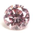 天然ピンクダイヤモンド ルース(裸石) 0.058ct, Fancy Intense Pink (ファンシー・インテンス・ピンク), I-1, ラウンド・ブリリアント・カット, 中央宝石研究所【送料無料】