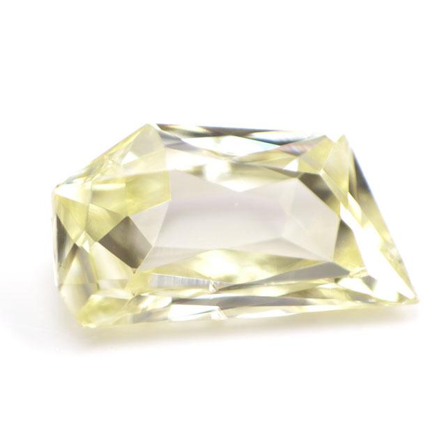 【 Under S (Light Yellow) カラー 】天然イエローダイヤモンド ルース(裸石) 0.086ct, SI-1, ファンシー・カット【 中央宝石研究所ソーティング袋付 】 【 送料無料 】 【_包装選択】【_のし宛書】【_メッセ入力】 【イエローダイヤモンド】【六角形】【まるい】