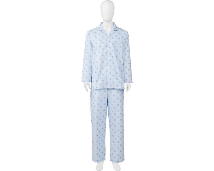 ソフトケアパジャマ面ファスナータイプ紳士用ブルー介護用品