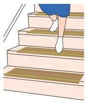 【すぐ使える★5%OFFクーポン配布中】 【介護用品】 階段用すべり止めマット ダイヤタップ 14枚 室内用 滑り止め マット