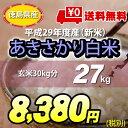 【★】平成29年度産 新米 徳島県 産 あきさかり 白米27kg 【送料無料!一部地域を除く】 アキサカリ