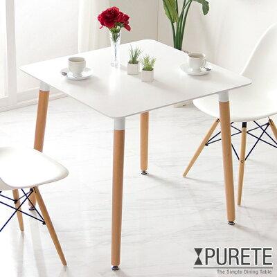 シンプルでモダンなデザインのダイニングテーブル幅80cm