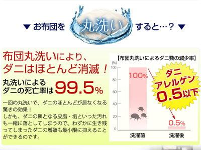 日本製洗える2枚合わせ掛布団オールシーズン