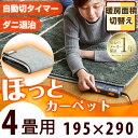 【送料無料】ホットカーペット 4畳 195×290 暖房面3...