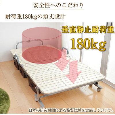 敷布団もぴったり!折りたたみベッド