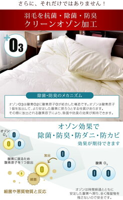 日本製羽毛布団ダブルロングダックダウン85%ダウンパワー300dp以上CILレッドラベル