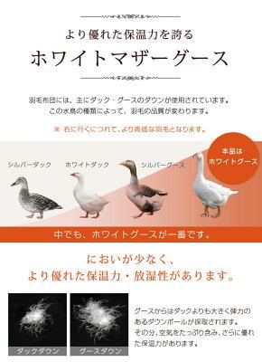 神々の羽毛ゼウス二層キルト国産ホワイトグース95%かさ高200mm以上羽毛布団シングル日本製国内パワーアップ加工羽毛掛け布団布団掛布団羽毛ぶとんふとん7年保証ツインキルトグース